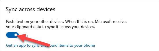 بخش Sync Across Devices ویندوز 10