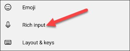بخش Rich Input در صفحه کلید SwiftKey