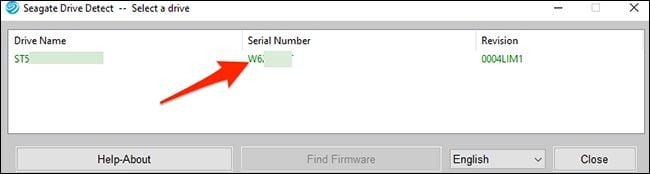 نمایش سریال هارد و  ssd در نرم افزار drive-detect