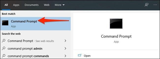 دستور اجرای CMD در ویندوز 10