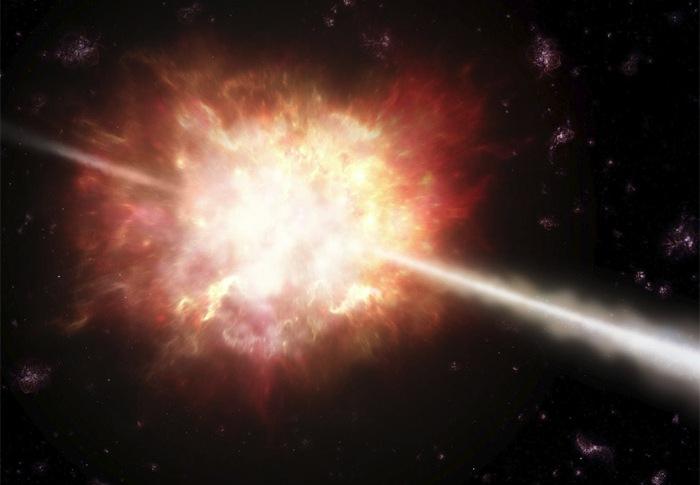 تصویری هنری از انفجار یک ستاره - فایل گپ