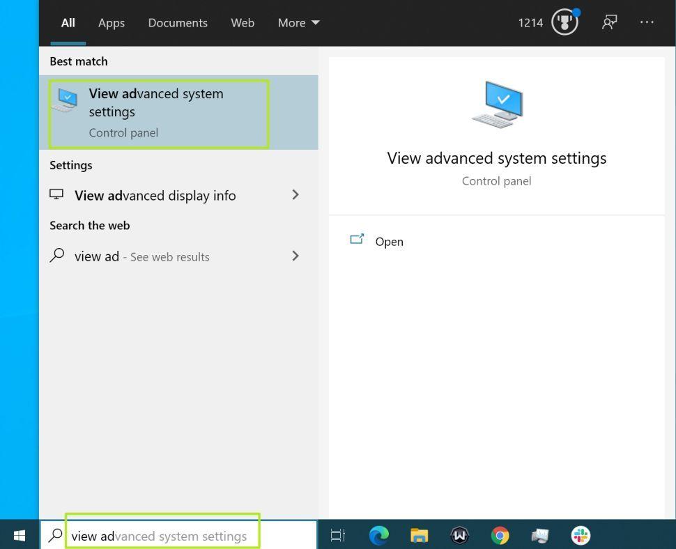 پنجره جستجوی ویندوز 10
