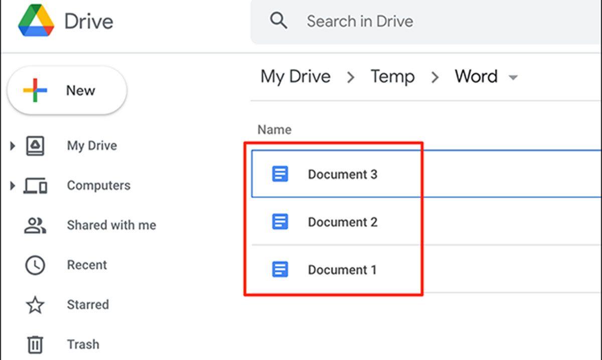 تبدیل فرمت ورد به گوگل داکس