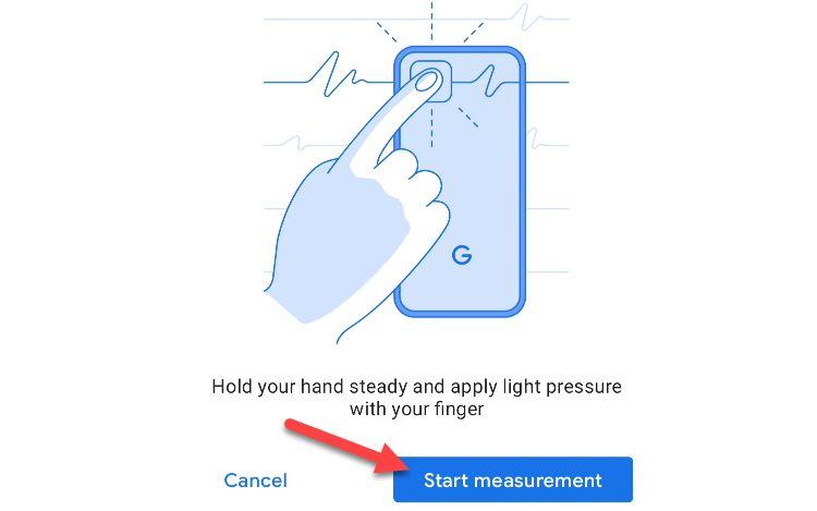 بررسی ضربان قلب با گوگل فیت