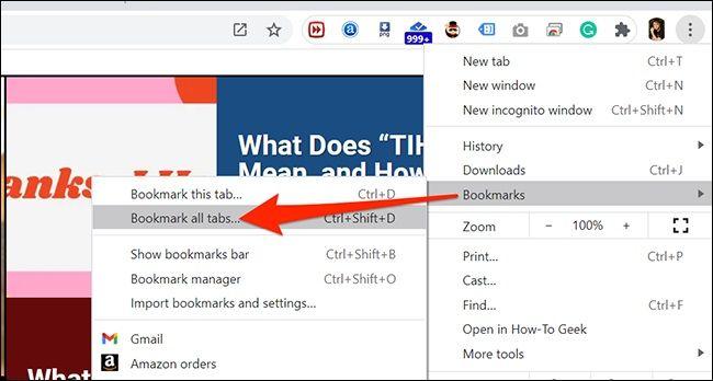 آموزش کپی کردن URL تمام برگههای باز شده در مرورگر کروم - 1