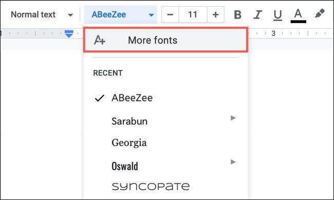 روش پیدا کردن، افزودن و حذف فونتها از Google Docs - 1