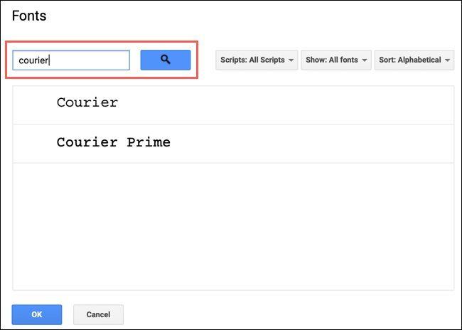 روش پیدا کردن، افزودن و حذف فونتها از Google Docs - 3