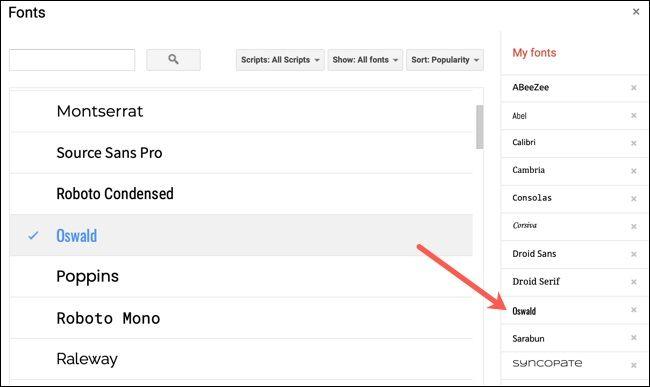 روش پیدا کردن، افزودن و حذف فونتها از Google Docs - 7