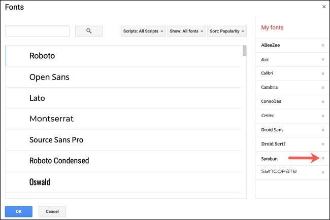 روش پیدا کردن، افزودن و حذف فونتها از Google Docs - 8