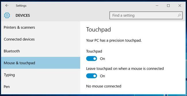 تاچپد precision درکامپیوترهای ویندوزی