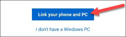 بخش Link Your Phone and PC