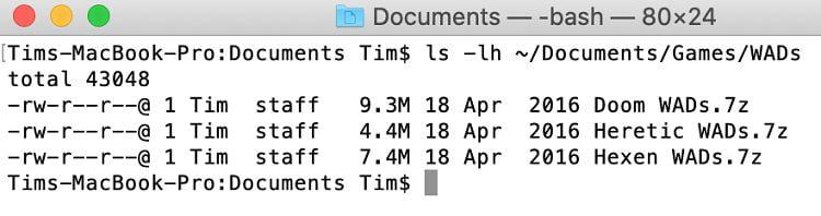 فهرست فایلها و فلدرها در ترمینال