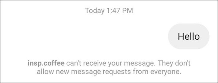 غیرفعال سازی message requests