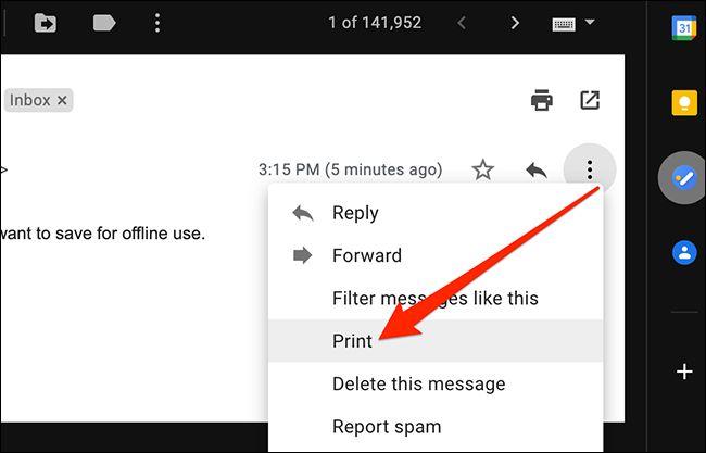 ذخیرهی ایمیل به شکل فایل PDF در مک