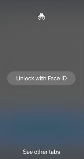 قفل کردنتبهای Incognito کروم با فیس آیدی در آیفون