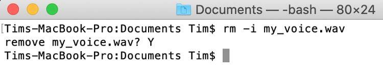 حذف کردن فایلها و فلدرها در ترمینال