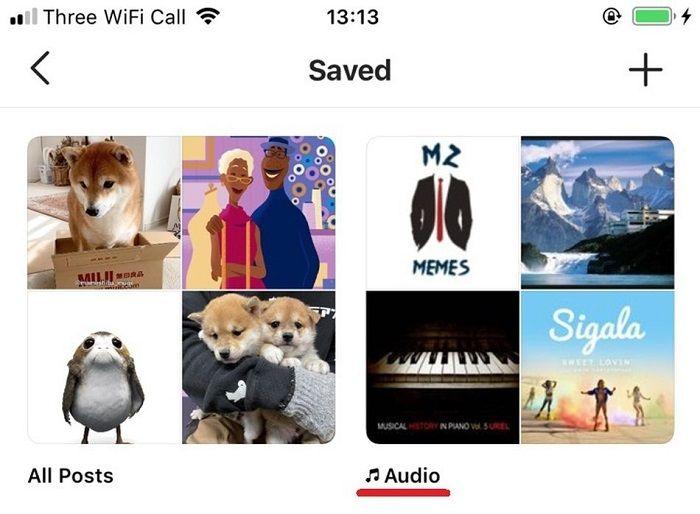 ذخیرهسازی موسیقی محتواهای اینستاگرام - 2