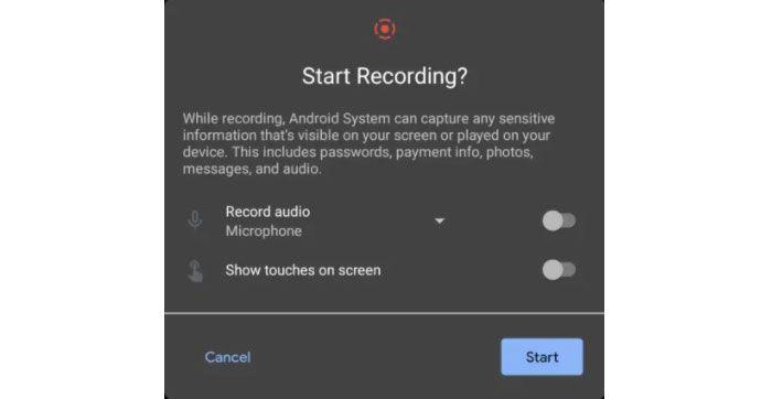 قابلیت ضبط نمایشگر در اندروید