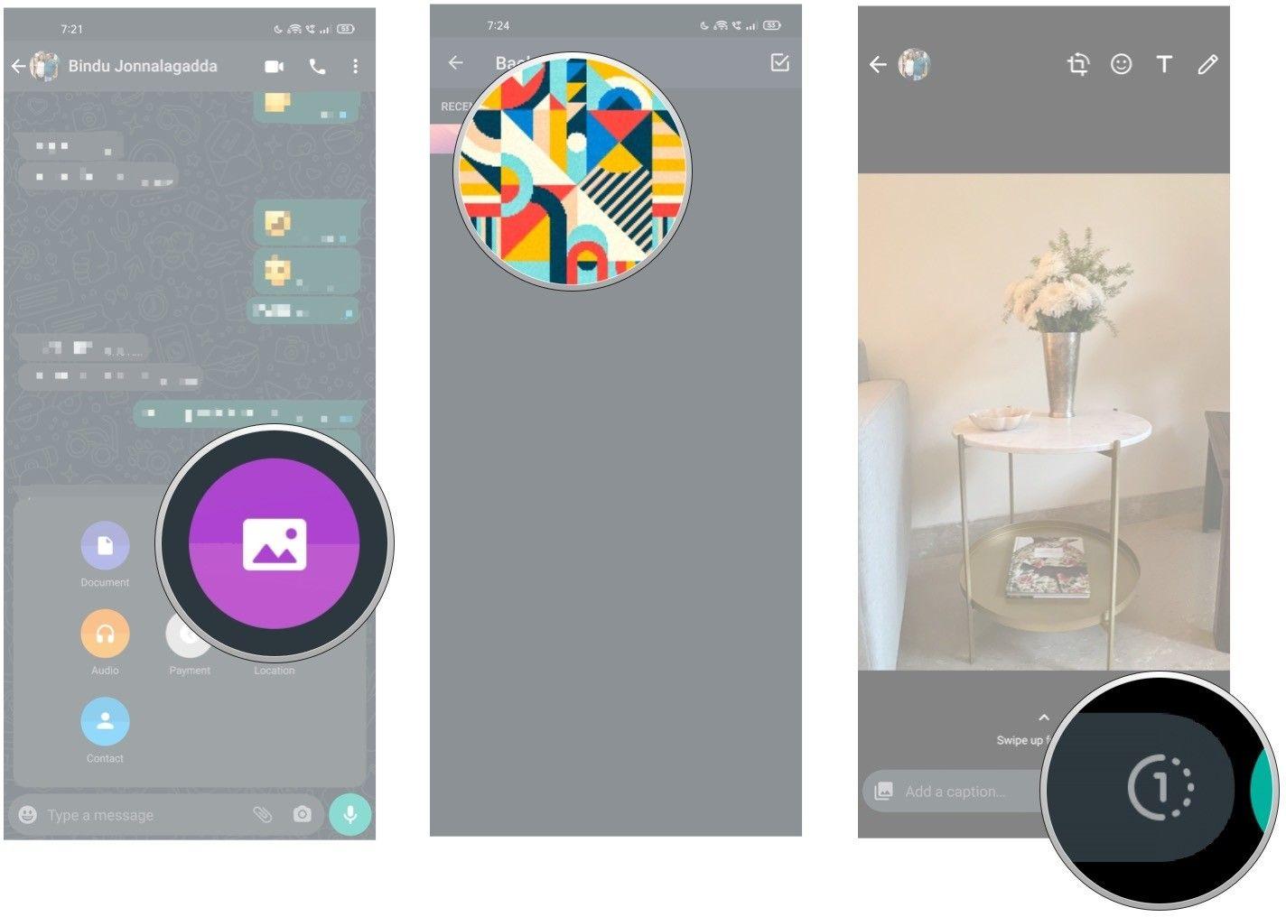 قابلیت ارسال عکس یکبار مصرف در واتساپ