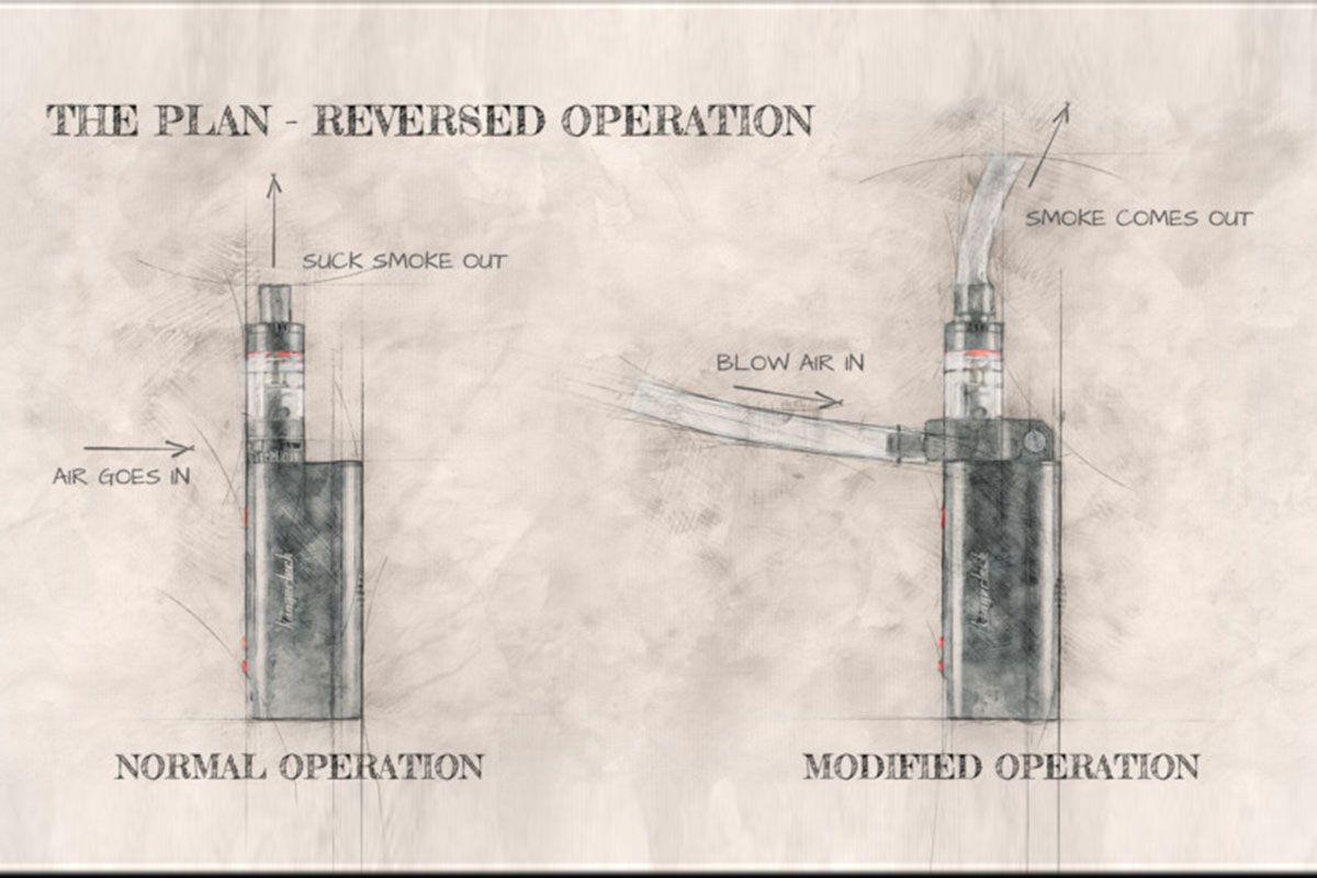 طرح اولیه دستگاه تولید دود برای عکاسی