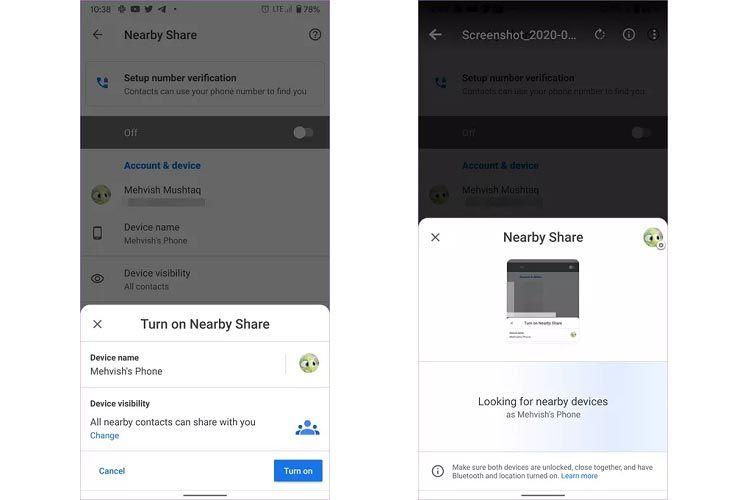 روش استفاده از Nearby Share برای ارسال فایل میان دستگاههای اندرویدی