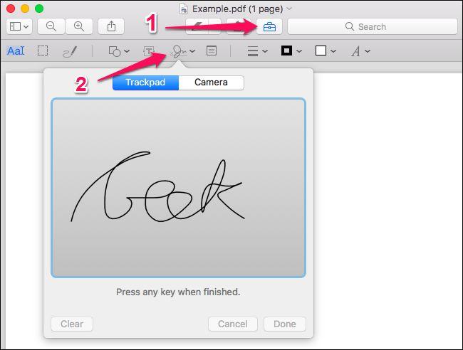 امضا الکترونیکی در مک با Preview