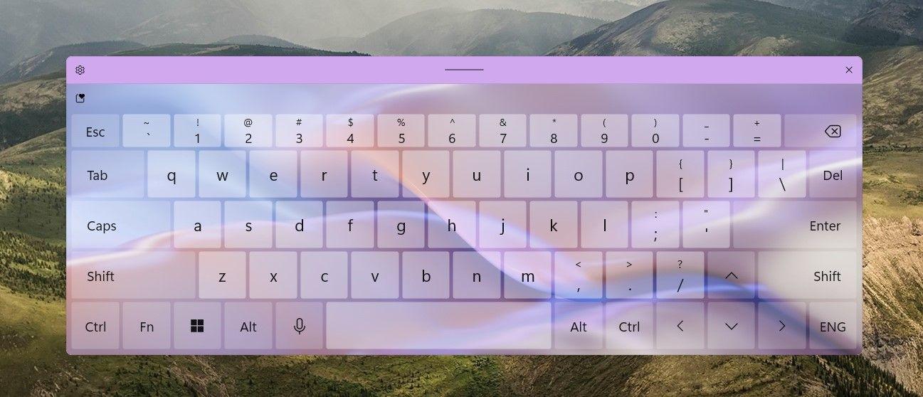 تم صفحه کلید ویندوز ۱۱