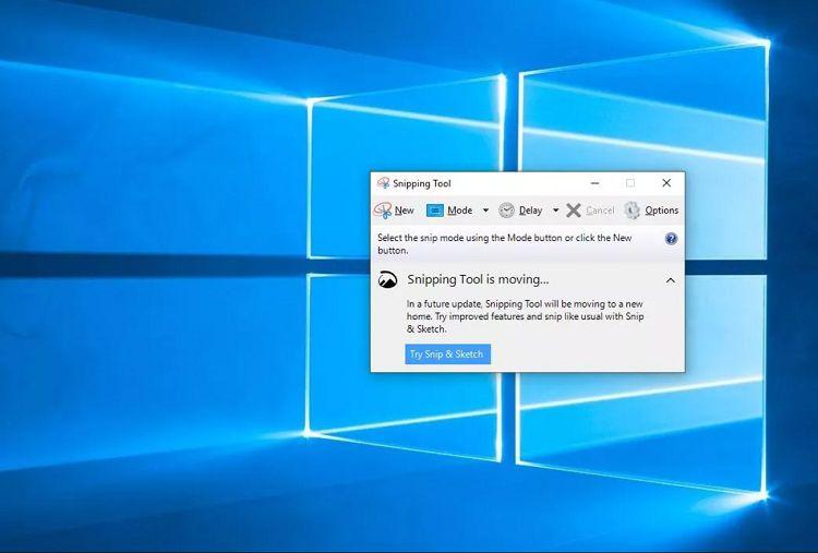 گرفتن اسکرینشات از ویندوز ۱۰ با ابزار Snipping Tool
