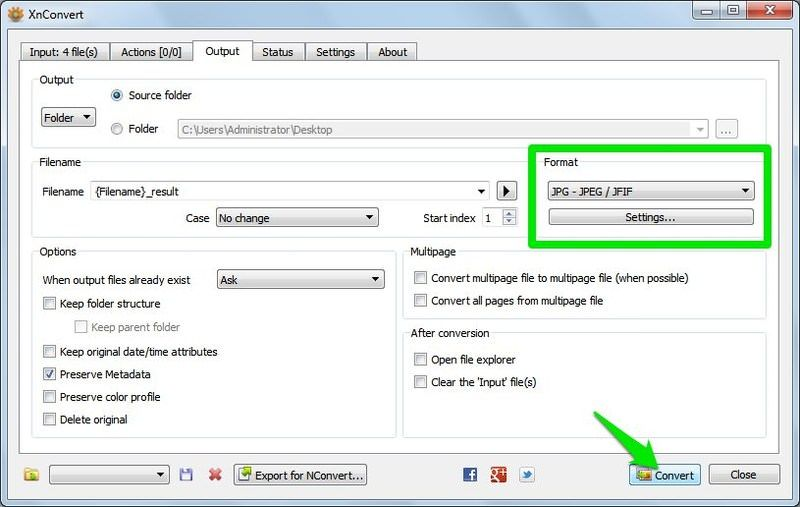 XnConverter /ذخیرهی تصاویر WebP با فرمت JPG و PNG
